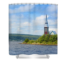 St Marks In Middle Lahave Nova Scotia Shower Curtain by Ken Morris