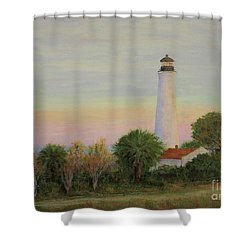 St. Marks Refuge I - Winter Shower Curtain