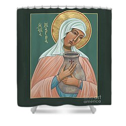 Shower Curtain featuring the painting St Martha Of Bethany  by William Hart McNichols