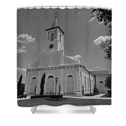 St. Martinville Church Shower Curtain