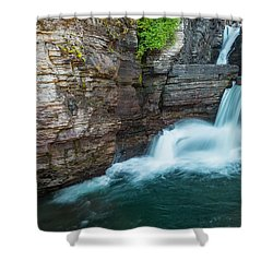 Shower Curtain featuring the photograph St. Mary Falls by Gary Lengyel