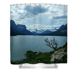 St Mary Lake, Incoming Storm Shower Curtain
