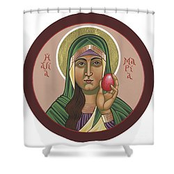 Shower Curtain featuring the painting St Mary Magdalen Preaches To Pontius Pilate 292 by William Hart McNichols