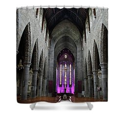 Shower Curtain featuring the photograph St. Mary's Cathedral, Killarney Ireland 1 by Marie Leslie