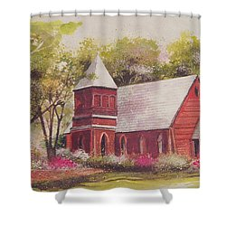 St. Mary's Chapel Shower Curtain by Charles Roy Smith