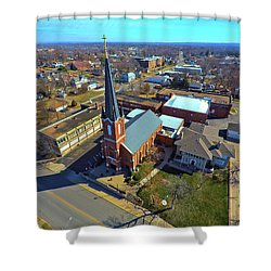 St. Marys Shower Curtain by Dave Luebbert