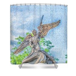 St Michael The Archangel Shower Curtain
