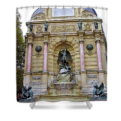 St. Michael's Fountain Shower Curtain