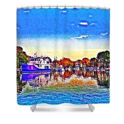 St. Michael's Marina Shower Curtain by Bill Cannon