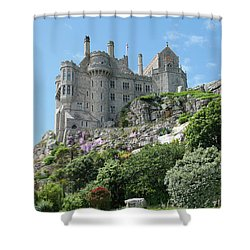 St Michael's Mount Castle II Shower Curtain by Helen Northcott