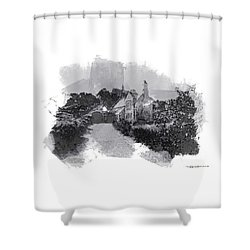 St Michaels Mount Shower Curtain by Roger Lighterness