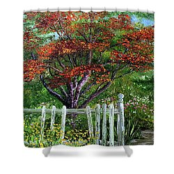 St. Michael's Tree Shower Curtain