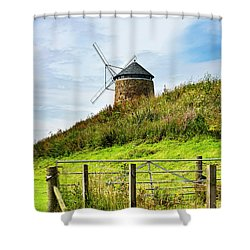 Shower Curtain featuring the photograph St Monans Landmark by MaryJane Armstrong