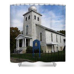 St Nicholas Church Saint Clair Pennsylvania Shower Curtain by David Dehner