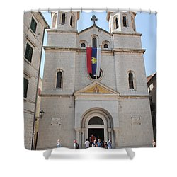 St Nicholas Kotor Shower Curtain