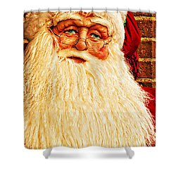 St. Nicholas Melting Canvas Photoart Shower Curtain