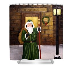St. Nicholas Shower Curtain by Timothy Smith