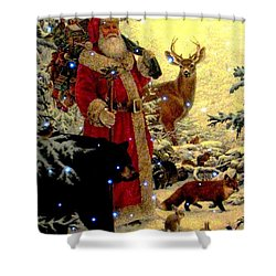 St Nick  And Friends Shower Curtain