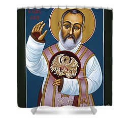 St Padre Pio Mother Pelican 047 Shower Curtain