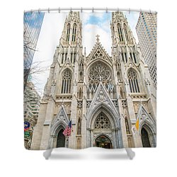 St. Patrick Cathedral In New York Shower Curtain