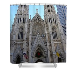 Shower Curtain featuring the photograph St Patrick's Cathedral, Nyc by Melinda Saminski