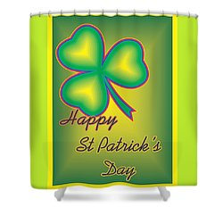 St. Patrick's Day Shower Curtain by Sherril Porter