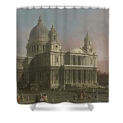 St. Paul's Cathedral Shower Curtain by Giovanni Antonio Canaletto