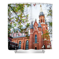 Shower Curtain featuring the photograph St Paul's Cathedral In Downtown Birmingham by Shelby Young