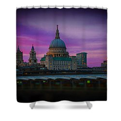 St Pauls Dusk Shower Curtain by David French
