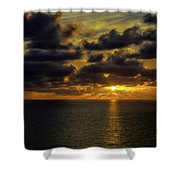 St. Pete Sunset Shower Curtain