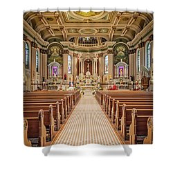 Shower Curtain featuring the photograph St Peter The Apostle Church Pa by Susan Candelario