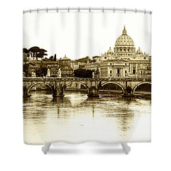 Shower Curtain featuring the photograph St. Peters Basilica by Mircea Costina Photography