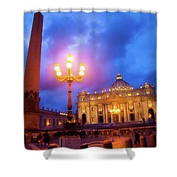St. Peters Cathedral At Night Shower Curtain