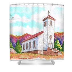 St. Peter's Catholic Church, Fayette, Mi Shower Curtain