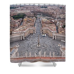 St. Peter's Square Shower Curtain by Sergey Simanovsky