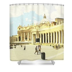 St. Peter's Square The Vatican Shower Curtain