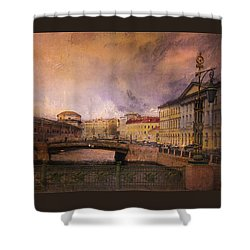 Shower Curtain featuring the photograph St Petersburg Canal by Jeff Burgess