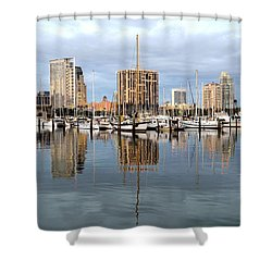 St Petersburg Marina Shower Curtain