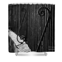 St. Philip's Episcopal Church Cemetery Iron Fence Shower Curtain