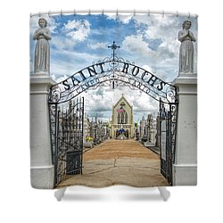 St. Roch's Cemetery In New Orleans, Louisiana Shower Curtain by Bonnie Barry