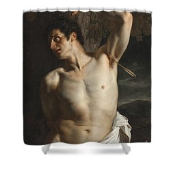 St. Sebastian Shower Curtain by Hippolyte Paul Delaroche