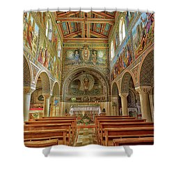 Shower Curtain featuring the photograph St Stephen's Basilica by Uri Baruch