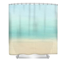 St Thomas #1 Seascape Landscape Original Fine Art Acrylic On Canvas Shower Curtain