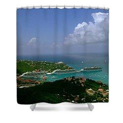 St. Thomas  Harbor Shower Curtain