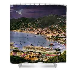 St Thomas Nights Shower Curtain