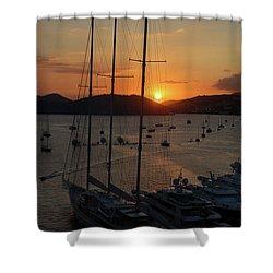 St. Thomas Sunset Shower Curtain