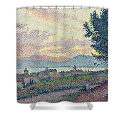 St Tropez Pinewood Shower Curtain by Paul Signac