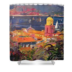 St Tropez Sailing Shower Curtain by Peter Graham