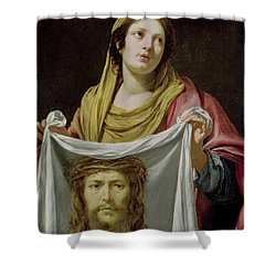 St. Veronica Holding The Holy Shroud Shower Curtain by Simon Vouet