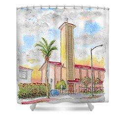 St. Victor's Catholic Church, West Hollywood, Ca Shower Curtain